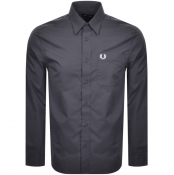 Fred Perry Long Sleeved Button Down Shirt Grey